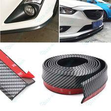 1PC 2.5M Rubber Front Bumper Lip Splitter Chin Spoiler Body Trim For Toyota
