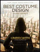 UNBROKEN__Original 2014 Trade AD / Oscar AD__Best Costume Design__Angelina Jolie