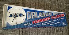 Very Rare Vintage Early Original 1987 Orlando Magic Pennant Wall Clock Inaugural