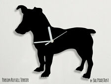 Parson Russell Terrier Dog Silhouette - Wall Clock