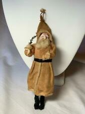 Antique Santa 6.5 Inch German Christmas Ornament 1910 Paper Mache Tree