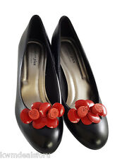 Bridal Wedding Prom Red Rose Leather Shoe Clip Dress Formal Wear Accessory