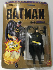 Rare Toy Biz 1989 Batman with Square Jaw with Hidden Bat-Rope Action Figure MOC