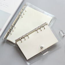 A5 Clear Binder Cover Index Core Page Note Book Journal Planner DIY Stationery