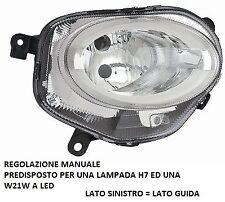FARO FANALE ANTERIORE REGOLAZIONE MANUALE A LED DESTRO 10710 FIAT 500 2015