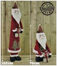 Statuine rossa in tessuto per l'albero di Natale