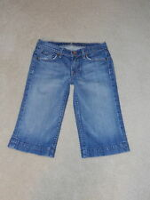 7 SEVEN FOR ALL MANKIND LOW RISE DOJO WIDE LEG CROPPED CAPRIS STRECH JEANS 28