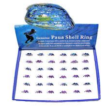 Paua Shell Dolphin Rings - Box x 36