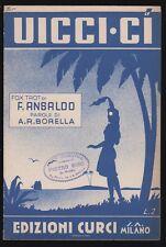 SPARTITO MUSICALE - UICCI-CI - ED. CURCI 1939 [XX-XX]