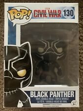 Funko Pop Vinyl Marvel Civil War Black Panther #130 2016 Vaulted Retired