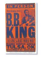 B.B. King Dec 31 Tulsa OK 2009 Tour Hatch Show Print Poster New NOS Letterpress