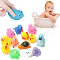 13 Pcs Cute Baby Toy Bath Toys Squirt Kids Float Water Tub Rubber Bathroom Play