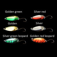 5pcs/lot 3g 58mm Spinner Spoon Fishing Lure Metal Lures Colorful Hard Baits Best
