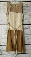 Altar'd State Dress Ivory Beige Brown Sleeveless Color Block Size Small S