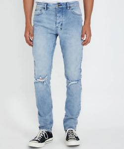 New Mens Ksubi Chitch Fury Blue Ripped Jeans RRP $379.00 (31)