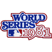 1981 World Series Logo Jersey Patch New York Yankees Los Angeles Dodgers MLB