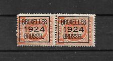 COB : PRE92A** En paire - NEUF** - Bruxelles - 1924 - Timbre Belgique