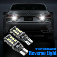 2xT10 W16W 11W Blanco 15 LED Luces Canbus DRL Marcha atrás  Bulbos 750LM