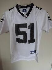 Vintage Reebok NFL New Orleans Saints Jonathan Vilma #51 Football Jersey Youth M