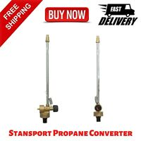 STANSPORT PROPANE CONVERTER FOR LIQUID FUEL STOVES BBQ OUTDOOR CAMPING NEW
