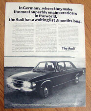 1971 Audi 100 LS Ad  In Germany Audi has a waiting list 3 Months Long