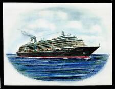Original Art Work ... ms ZUIDERDAM...cruise ship... H.A. Line
