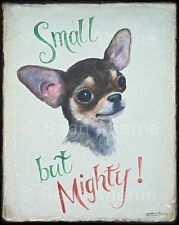 Black & Tan Chihuahua Dog Shabby Chic Wooden Sign Plaque Art for Dog Lovers