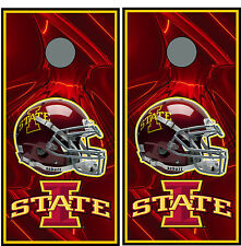Iowa State Cyclones 0146 custom cornhole board vinyl wraps stickers posters gift