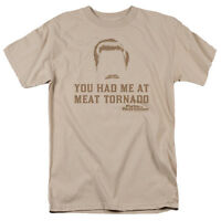 Parks & Recreation TV Show Ron Swanson You Had Me at Meat Tornado T-Shirt S-3XL