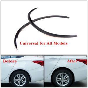 2PCS Car Rear Bumper Diffuser Shark Fin 4 Wing Lip Diffuser Protector PVC Screw