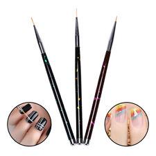 3pcs Metal Nail Art French Stripes Lines Flower Painting  Liner Brush Pen GvSJLD