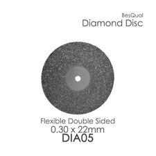 Dental Lab Diamond Disc # 5 (6-Piece) 22mm x 0.30mm for porcelain