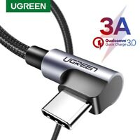 UGREEN 3A USB Type C Fast Charging Cable 90 Degree USB C Cable for Samsung S10