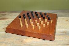 Vintage Mid Century Skjøde Skjern Solitaire Board Game Teak Wooden Denmark