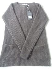 EX Fat Face Farringdon Chocolate Fleck Pure Cashmere Side Vent Jumper 6 8 RP 8