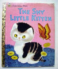 THE SHY LITTLE KITTEN - 1973 -  Little Golden Book