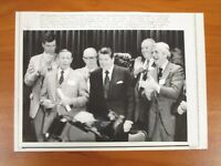 Vintage AP Wire Press Photo Former President Ronald Reagan Campaign Rally #8