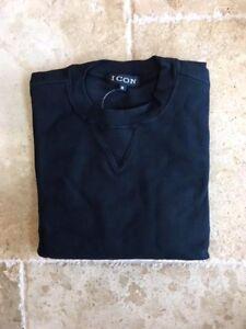 NWT New Mens Crewneck Black M,L,XL,2XL Sweatshirts $60 value Fine quality