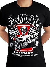 Gas Monkey Garage Badass Spark Plugs Motor Hot Rod Licensed Black Mens T-shirt M