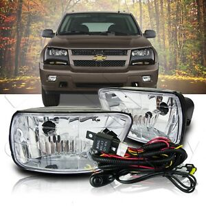 02-09 Chevrolet Trailblazer Fog Lights Front Bumper Lamps w/Wiring Kit - Clear