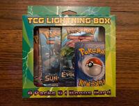 POKEMON TCG LIGHTNING BOX / 4 PACKS + 1 BONUS CARD [ XY EVOLUTIONS ] NEW