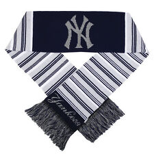 New York Yankees Glitter Stripe Acrylic Scarf [NEW] Neck Winter Scarve Hat