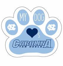 NORTH CAROLINA TARHEELS PAW DECAL STICKER-MY DOG LOVES NORTH CAROLINA STICKER