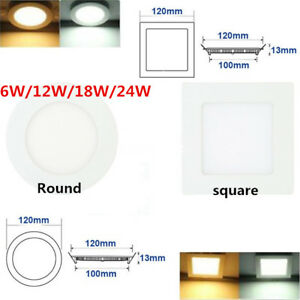 ULTRASLIM Square/Round LED Recessed Ceiling Downlight Panel Light Flat Room Lamp