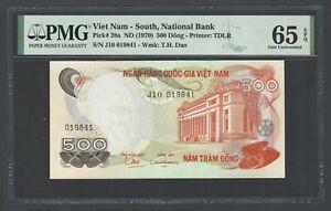 South Vietnam 500 Dong ND(1970) P28a Uncirculated Grade 65