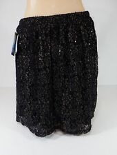 Skirt Womens BeBop Black Gold Lace Sequined Skirt Lined Sexy Sparkle