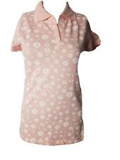 New Divion pink flower pattern Polo Shirt for women