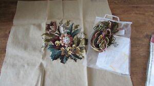 1970's /1980's   3 x Vintage Trammed Trame Sylvanie Tapestry Canvas / Kits