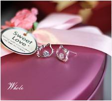 Super Lovely Adorable *Hello Kitty* Cat Kitten 925 Sterling Silver Earring Stud