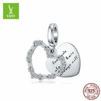 Unique 925 Sterling Silver Charm Beads Fit Women Pendant Bracelet Chain Jewelry